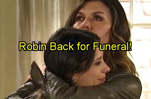 'General Hospital' Spoilers: Robin Returns for Morgan Corinthos Funeral – Kimberly McCullough Back In Port Charles