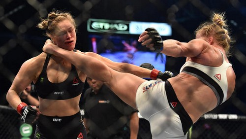 Ronda Rousey Hospitalized After Bloody Knock-Out By Holly Holm – Split Lip Required Stitches – Rematch Scheduled
