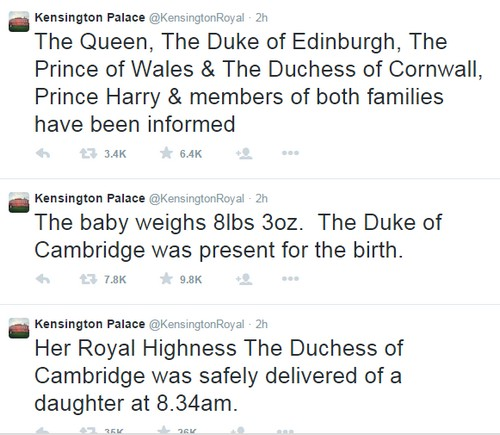 Royal Baby Girl Born: Kate Middleton Gives Birth to 8lbs 3oz. Daughter - Rushed To St. Mary's Hospital in Labor - LIVE STREAM