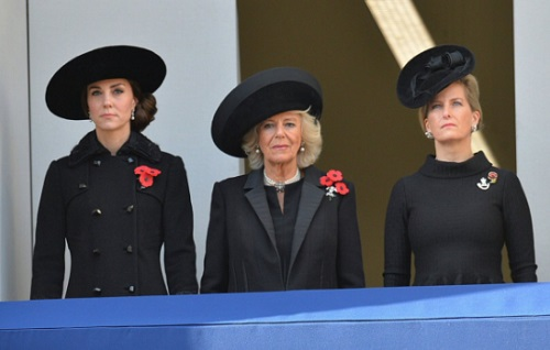 Kate Middleton Works With Camilla Parker-Bowles and Countess Sophie on Remembrance Day: Queen Elizabeth Ends Feud?