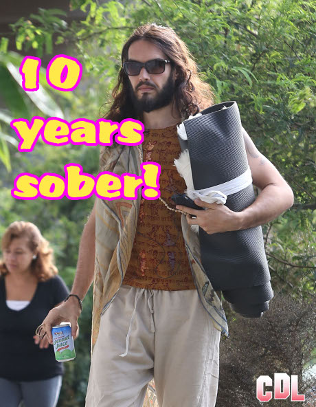 Russell Brand Celebrates Ten Years of Sobriety with Ex-Wife Katy Perry's Parents