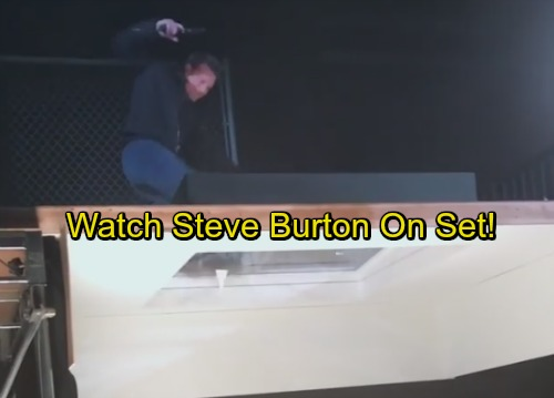 General Hospital Spoilers: Steve Burton Filmed Behind the Scenes - Patient Six Shocking Party Rescue