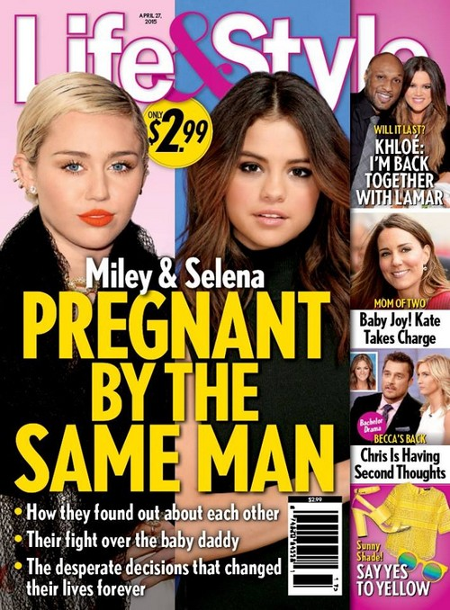 Selena Gomez and Miley Cyrus Pregnant By Justin Bieber?