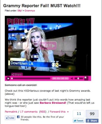 Perez Hilton Attacks Serene Branson After On Air Stroke