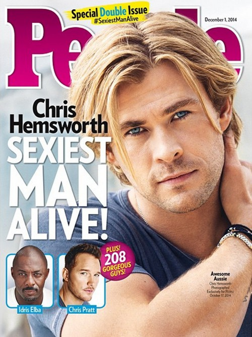 Chris Hemsworth People's Sexiest Man Alive 2014 (PHOTO)