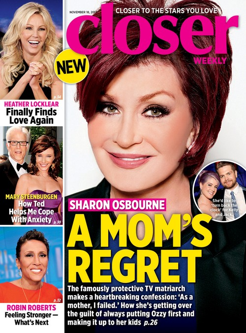 Sharon Osbourne Regrets Failing Her Children, Kelly And Jack Osbourne (Photo)