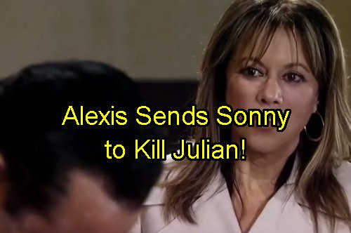 'General Hospital' Spoilers: Sonny Plots Julian's Murder – Alexis Begs Corinthos Mob Boss for Bloody Vengeance