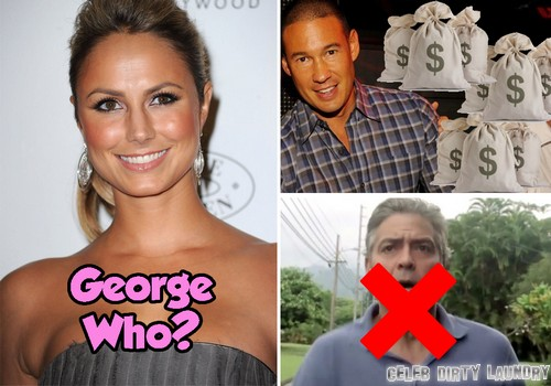 Stacy Keibler Using Brad Pitt And Angelina Jolie To Stalk George Clooney