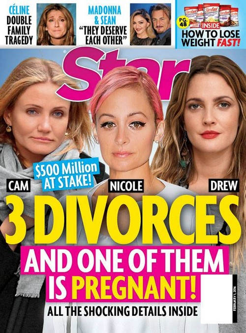Cameron Diaz, Drew Barrymore, and Nicole Richie: 3 Divorces, 1 Pregnancy?