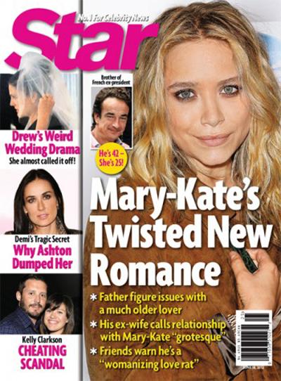 Mary-Kate Olsen Dyed Her Hair Brown For Her Twisted, Hugh Hefner-Like French Boyfriend
