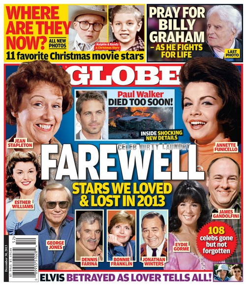 GLOBE: Stars We Loved and Lost in 2013 (PHOTO)