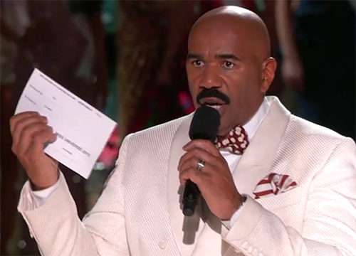 Steve Harvey's Horrific Miss Universe 2015 Crowning Error Allegedly Result Of Faulty Teleprompter Cue!