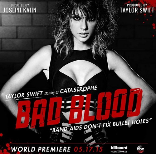 """Taylor Swift's """"Bad Blood"""" Music Video Booms With Epic Cast: Ellen Pompeo Joins Lena Dunham, Karlie Kloss, Zendaya, And More!"""