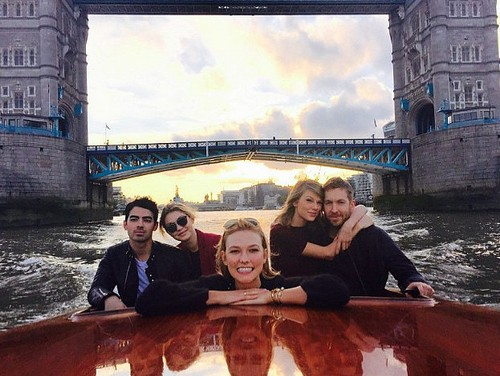 Taylor Swift Shows Off Calvin Harris Confidence: Gigi Hadid and Joe Jonas Dragged Along With Karlie Kloss on Awkward Boat Ride