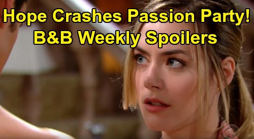 The Bold and the Beautiful Spoilers: Week of February 24 - Hope Intentionally Crashes Zoe & Thomas Making Love – Sally Gets a Big Surprise