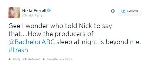 The Bachelorette 2014 Nick Viall and Andi Dorfman Sex Scandal: Nikki Ferrell Slams Producers - Calls Them 'Trash'