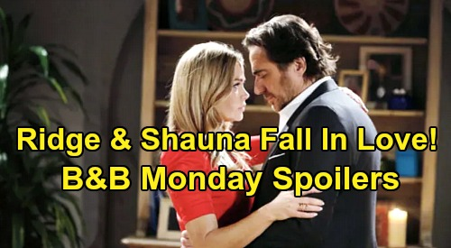 The Bold and the Beautiful Spoilers: Monday, April 13 - Shauna Falls In Love With Ridge - Sally Panics Over Flo & Penny