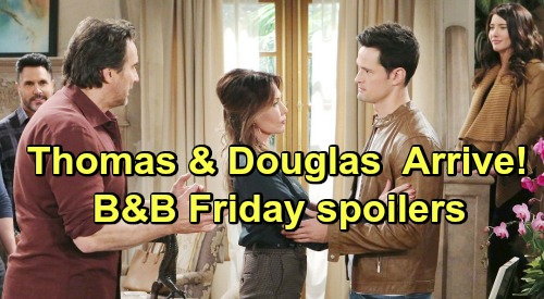 The Bold and the Beautiful Spoilers: Friday, March 15 - Thomas & Douglas Return In The Wake Of Caroline's Death - Bill Feels Guilty