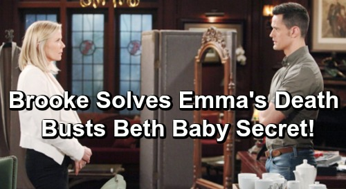 The Bold and the Beautiful Spoilers: Brooke's Deadly Clue Solves Emma's Death Mystery - Busts Baby Beth Secret?