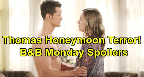 The Bold and the Beautiful Spoilers: Monday, July 29 - Liam Investigates Douglas' Beth Alive Intel - Thomas Honeymoon Terror