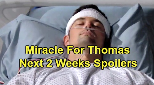 The Bold and the Beautiful Spoilers Next 2 Weeks: Thomas Lives - Relief For Ridge, Arrest Fears For Brooke – Flo's Surprising Visits