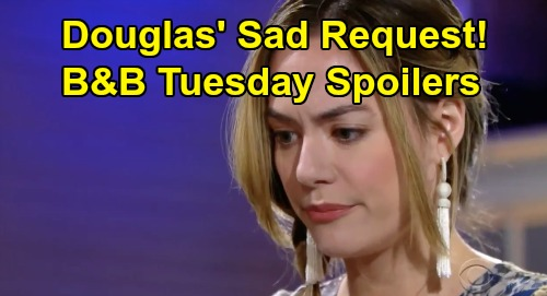 The Bold and the Beautiful Spoilers: Tuesday, February 18 - Liam Begs Zoe To See Thomas Truth - Douglas' Sad Message For Hope