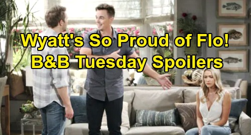 The Bold and the Beautiful Spoilers: Tuesday, October 15 - Wyatt Expresses Gratitude To Flo - Thomas Wants Back In At Forrester