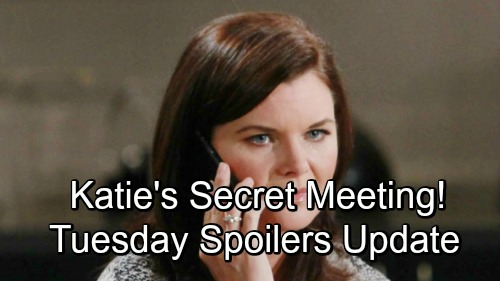 The Bold and the Beautiful Spoilers Tuesday, November 20 Update: Heartbroken Steffy Comes Clean, Hope Steps Up – Katie's Secret Meeting