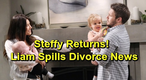 The Bold and the Beautiful Spoilers: Thursday, May 23 - Steffy Returns To Shocking Lope Divorce News - Liam Reunites With The Girls
