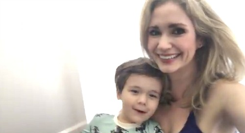 The Bold and the Beautiful Spoilers: Ashley Jones' COVID-19 Family Activity, Shaving Cream Fun with Son – B&B Bridget Forrester Adorable Video