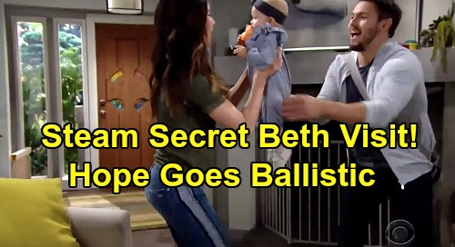 The Bold and the Beautiful Spoilers: Secret Beth Visit for Steffy, Liam's Gift – Hope Fumes After They Go Behind Her Back