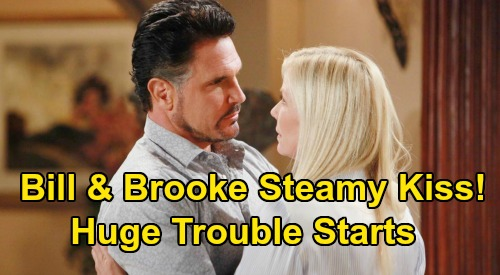 The Bold and the Beautiful Spoilers: Bill & Brooke Kiss, Cheaters Can't Resist Temptation – Sizzling 'Brill' Spark Spells Trouble