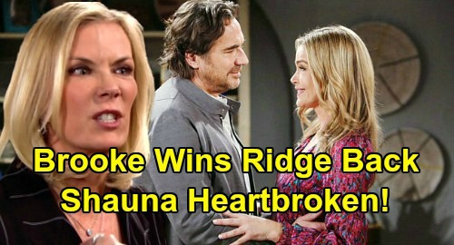 The Bold and the Beautiful Spoilers: Shauna's Heartbreak, Ridge Romance Ends in Disaster – Brooke Wins Hubby Back?