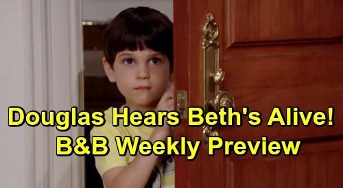 The Bold and the Beautiful Spoilers: Week of July 22 Preview - Douglas Learns Beth Is Alive - Thomas Must Keep Son From Telling Hope