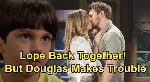 The Bold and the Beautiful Spoilers: Liam & Hope Reunite - Douglas Threatens 'Lope' – Thomas' Influence Spells Trouble?