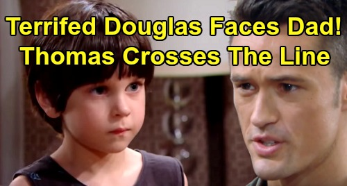 The Bold and the Beautiful Spoilers: Douglas Faces Abusive Thomas' Wrath – Nanny Delivers Terrified Son to Furious Dad