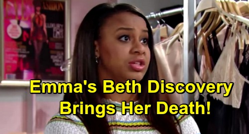 The Bold and the Beautiful Spoilers: Emma Returns to B&B Just Before Death Strikes – Beth Discovery Brings Her Gruesome End?