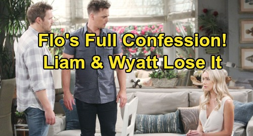 The Bold and the Beautiful Spoilers: Wyatt and Liam's Fury Erupts as Flo Confesses Baby Beth Story, Pleads for Mercy