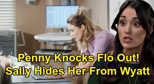 The Bold and the Beautiful Spoilers: Flo Attacked, Knocked Out - Sally & Penny Hide Victim From Wyatt