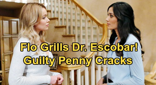 The Bold and the Beautiful Spoilers: Flo Confronts Dr. Escobar About Sally's Diagnosis – Penny Cracks Under Pressure?