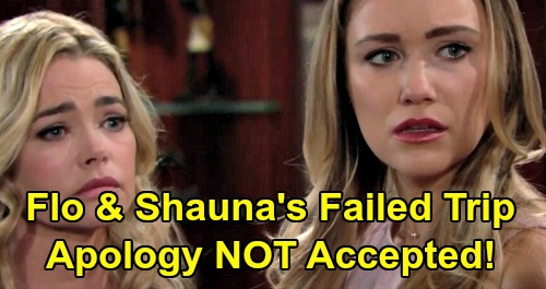 The Bold and the Beautiful Spoilers: Shauna and Flo Sneak Into Hope's Cabin - Logan Sisters & Hope Attack Disgusting Liars