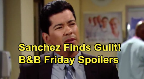 The Bold and the Beautiful Spoilers:Friday, August 30 - Sanchez Tough Questions Find Guilt - Brooke & Ridge On The Spot