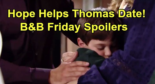 The Bold and the Beautiful Spoilers: Friday, December 27 - Sally's Fashion Show Fight - Hope Helps Thomas Date Zoe