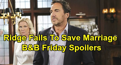The Bold and the Beautiful Spoilers: Friday, December 6 - Hope Considers FC Return - Ridge's Final Effort To Save Marriage Fails