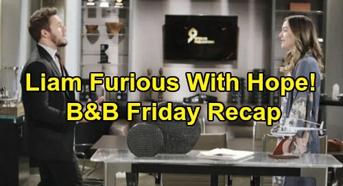 The Bold and the Beautiful Spoilers: Friday, December 6 Recap - Liam Fumes At Hope - Ridge Asks Brooke To Forgive Thomas