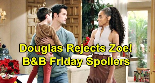 The Bold and the Beautiful Spoilers: Friday, February 14 - Sally Refuses Medical Treatment - Douglas Rejects Zoe, Refuses To Bond