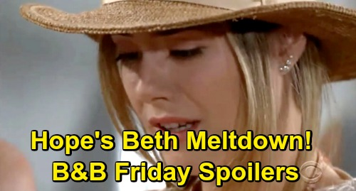 The Bold and the Beautiful Spoilers: Friday, June 28 - Thomas Panics During Hope's Beth Meltdown - Wyatt Invites Flo To Move In
