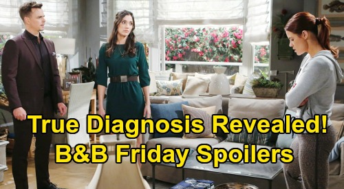 The Bold and the Beautiful Spoilers: Friday, March 20 - Sally's True Diagnosis Finally Revealed - Eric Gives Quinn Devious Idea