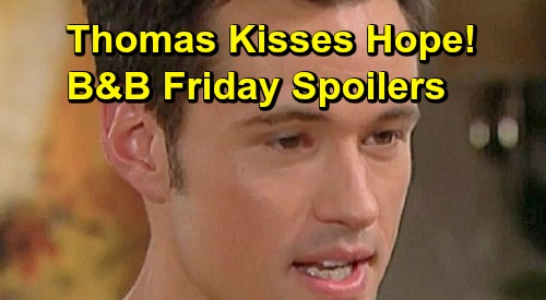 The Bold and the Beautiful Spoilers: Friday, May 3 - Thomas Kisses Hope, Makes His Big Move - Shauna In Love With Forrester