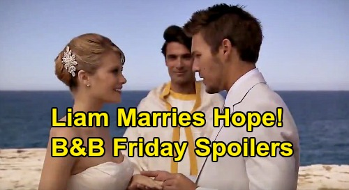 The Bold and the Beautiful Spoilers: Friday, May 8 - Hope & Liam Marry In Italy - Steffy Watches From Afar, Then Falls In The Water
